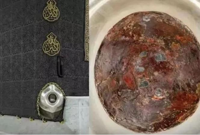 मक्का से पहली बार सामने आई 'काबा' के काले पत्थर की हाईक्वॉलिटी 'तस्वीर'