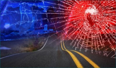 Young man walking on the road in Panama City crushed by a car