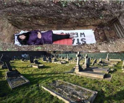 इस यूनिवर्सिटी ने निकला टेंशन दूर करने का अनोखा फॉर्मूला, कब्र में लिटाकर किया ऐसा काम