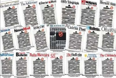 Frontpage of all newspapers in Australia has been printed black, know what's the reason