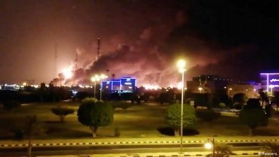 Drone Attacks On Saudi Arabia's Aramco Oil Plants Trigger Fires