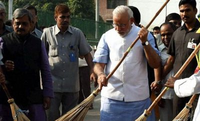 PM Modi set an example of cleanliness in America, watch this video