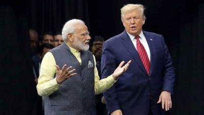 PM Modi was giving speech at UN, President Trump suddenly arrived and then ..