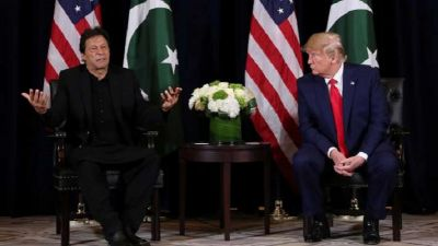 Trump gives this answer when asked on Terrorism and Modi in front of Pak PM