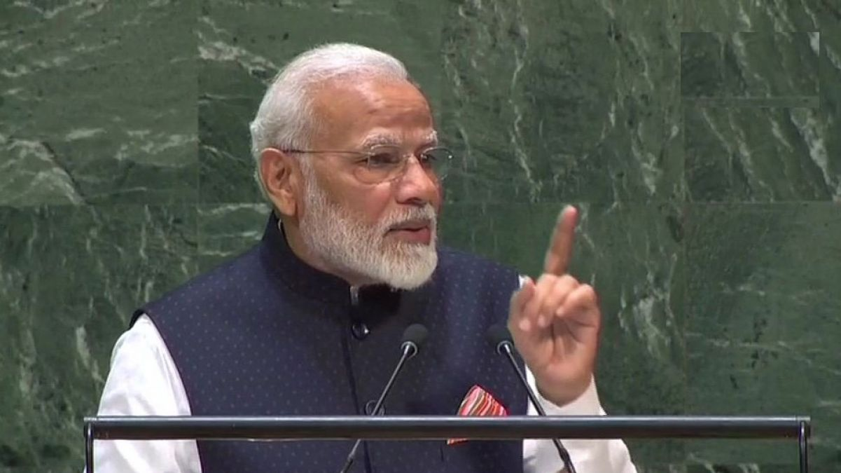 PM Modi's message in the United Nations, says 'Our country gave Buddha to the world, not war ...'