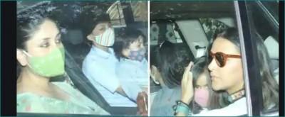 Kareena Kapoor arrives at Karan Johar's twins birthday party