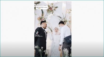 Video: Bride did this after seeing ex-lover at her wedding